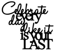 Celebrate like every day is your last  98 x 90 Bulk pack 5 sold
